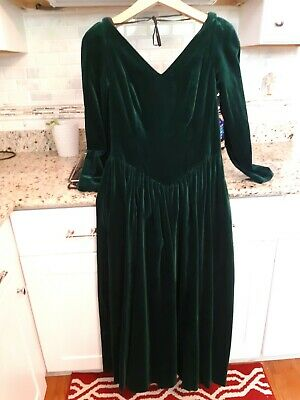 attractive price best service various colors Vintage laura ashley green velvet dress women's Size 12 euc midi ...