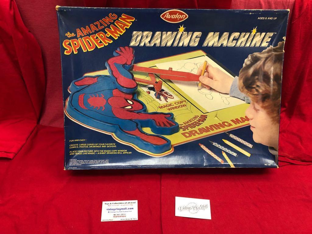 The Amazing Spider-Dibujo máquina Avalon Vintage Spiderman Man