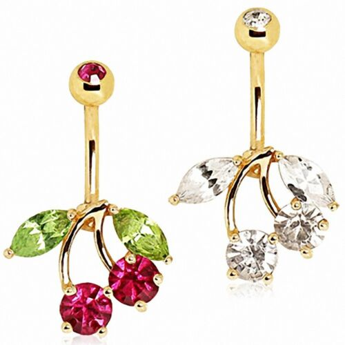 Piercing Navel Gold Plated Cherry