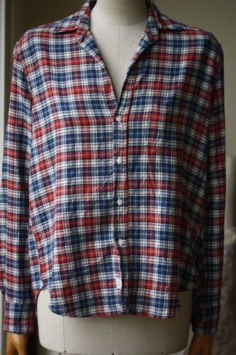 Barry Frank Eileen e Xsmall Blouse Plaid nYYRqxgE