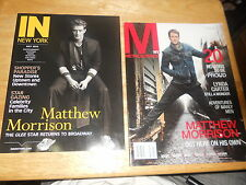 LOT OF 2 Matthew Morrison Magazines ONE Metrosource NY 2011 ONE IN NEW YORK 2015