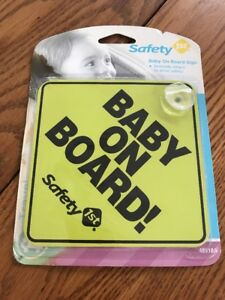 SAFETY 1ST BABY ON BOARD CAR WINDOW SIGN YELLOW Ships N 24h