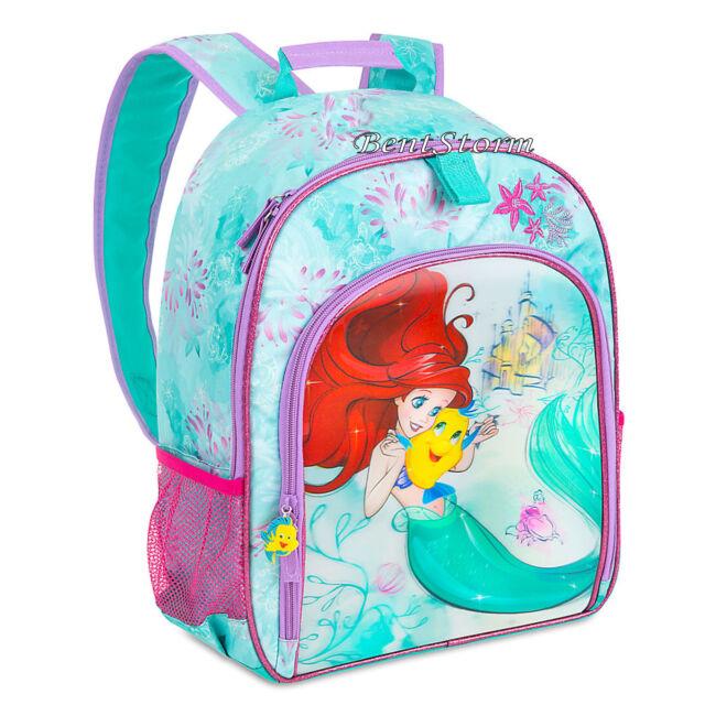 The Little Mermaid Ariel Flounder S School 3d Backpack Book Bag Disney