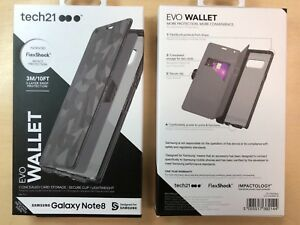 newest 5cde2 8e81d Details about Tech21 Evo Wallet Credit Card Case for Samsung Galaxy Note 8  - Black
