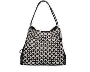 Coach-Madison-Small-Phoebe-Op-Art-Sateen-Shoulder-Bag-26448-F26448-Black-White