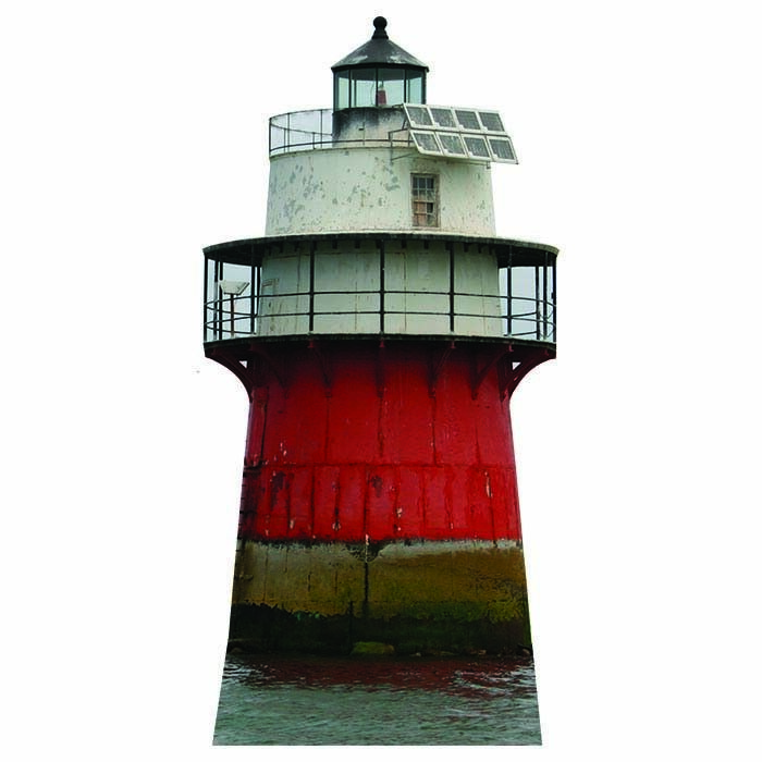 H20214 Duxbury Pier Lighthouse Cardboard Cutout Standup