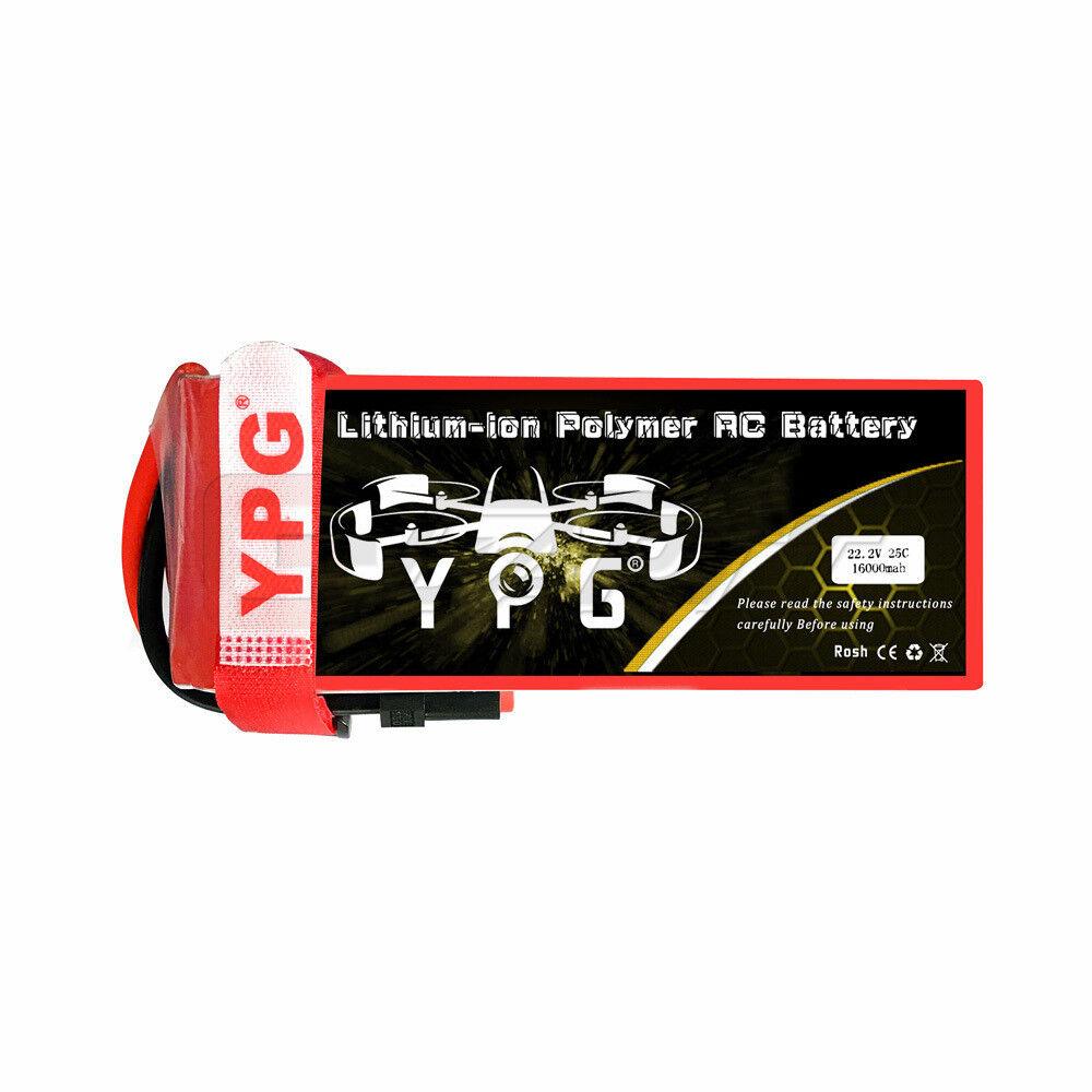 YPG 16000mAh 6s 22.2V 25C Lipo RC Batteria Trex 500-600 Heli DJI S800 S1000 NUOVO