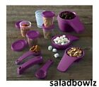 TUPPERWARE New MEASURING CUPS AND SPOONS with TUPPER MINIS Purple fREEsHIP!
