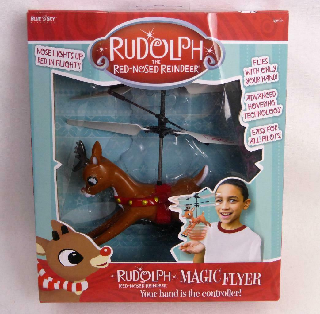 Rudolph the Red-Nosed Reindeer Magic Hand Controlled Flyer Brand Blue Sky New