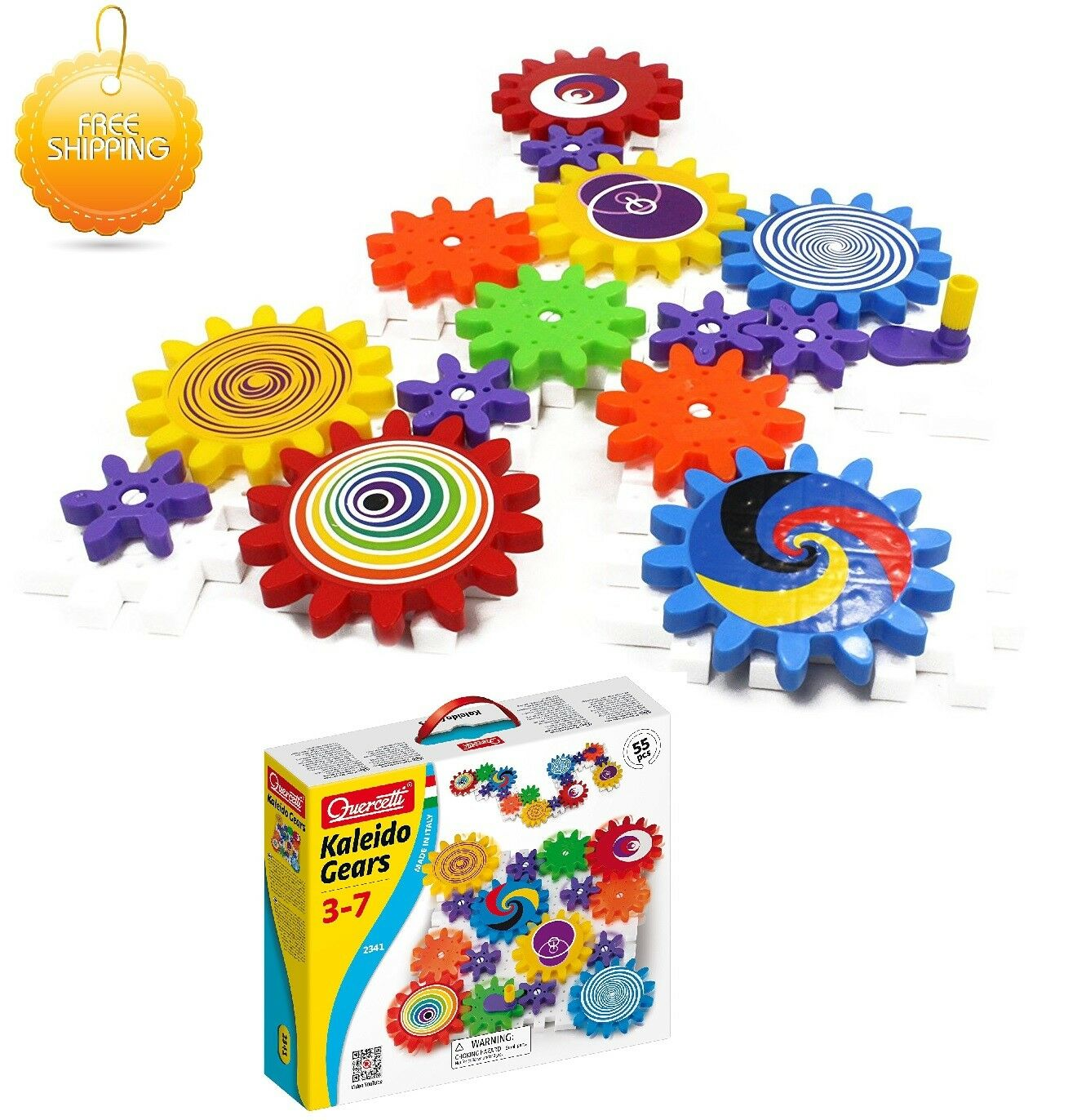 Autism Calming Toys Georello Kaleidogears 55pc Toy Set Kids Educational GIFT UK