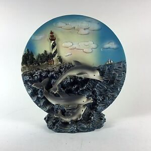 Seascape-3D-Standing-Decorative-Plate-with-Dolphins