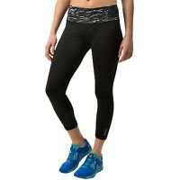 Reebok Women's Black Remaster Print Athletic Capri Pants Size Xs, $60