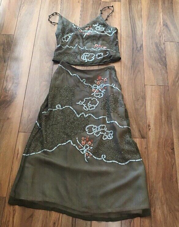 Women's Anopia Top skirt NWT Size 6 100% Silk