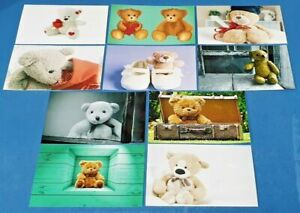 Set-of-10-NEW-Teddy-Bear-Teddies-Postcards-for-Postcrossing-Postcardsofkindness