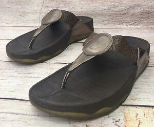 62b600c0d2b FitFlop Disney Womens Size 8 Thong Sandals Flip Flops Mickey Print ...