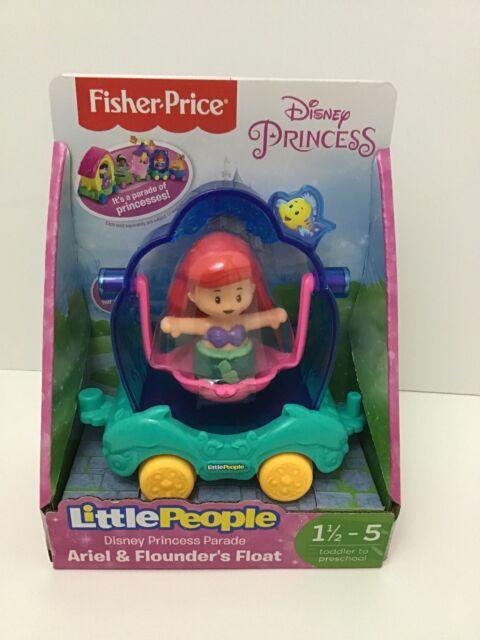 Fisher Price Little People Disney Princess Parade Ariel & Flounder's Float New!