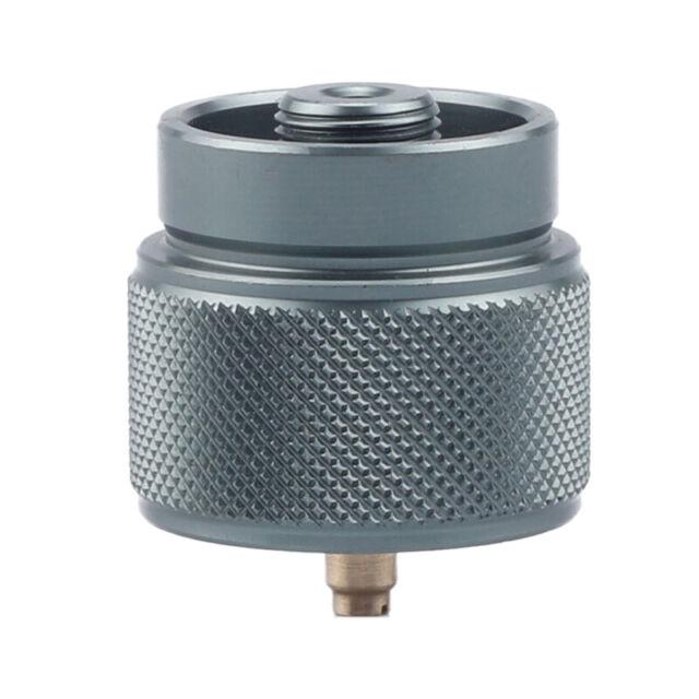 Benkeg Propane Fuel Tank Adapter Lindal Valve Output Camping Stove Tank Convert MAPP Gas Tank Adapter 1 LB Cylinder Input