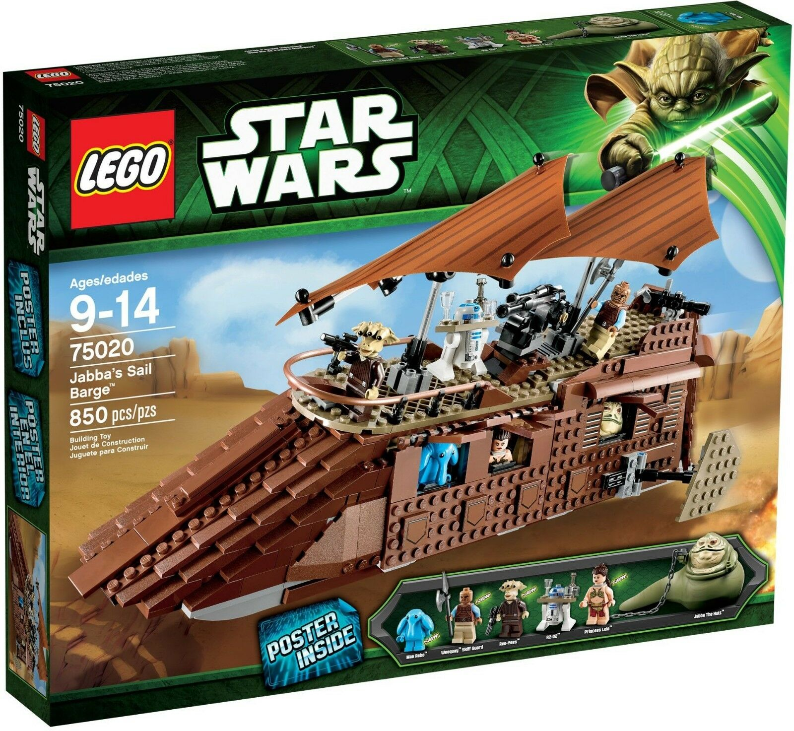 LEGO 75020 JABBA'S SAIL BARGE STAR WARS EPISODE EPISODE EPISODE VI 6 BRAND NEW RETIRED FAST SHIP efdf21