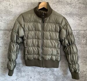 The-North-Face-Jacket-600-Goose-Down-Puffer-Bomber-Size-XS-Green