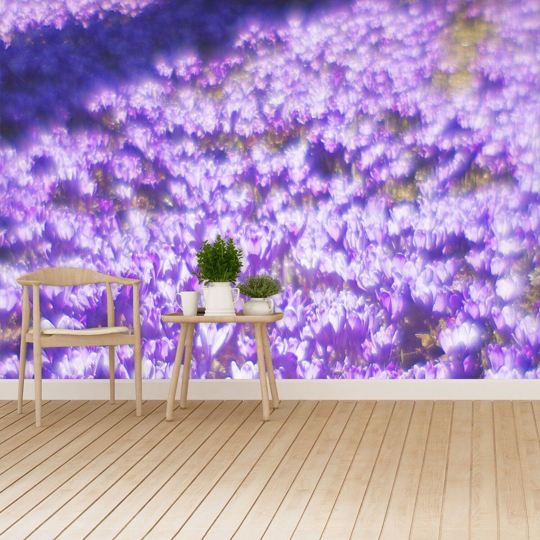 Vlies-Fototapete Fototapeten Tapete aus Vlies Poster Foto Lila Blumen