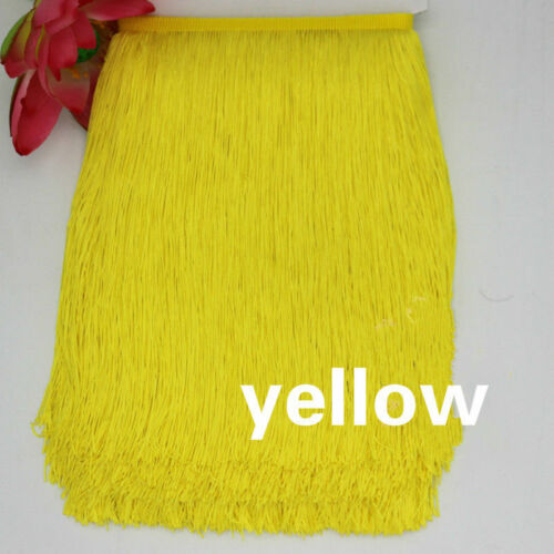 1//10Yard Long Tassel Fringe 30cm Fringing Trim Drop Latin Dance Costume Sewing
