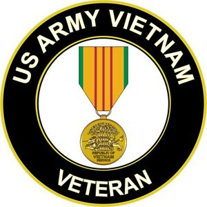 US-Army-Vietnam-Veteran-5-5-034-Window-Sticker-Decal-039-Officially-Licensed-039