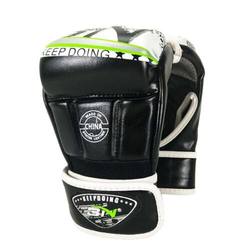 Kids Adults Boxing Muay Thai MMA Gloves Open Fingers Sparring Martial Arts Mitts