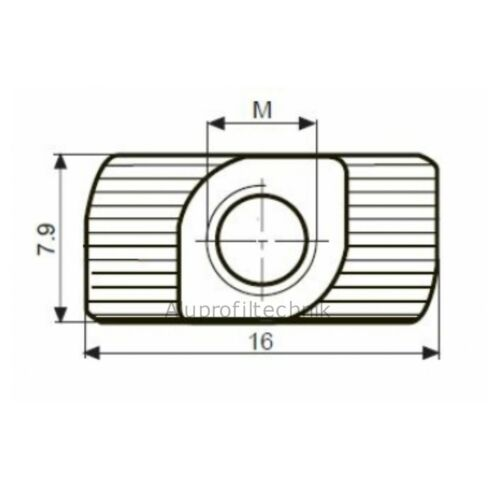 10 x Hammermutter Nutenstein Nut 8 Gewinde M6 Bosch Raster Aluprofil 30x30 ★★★★★