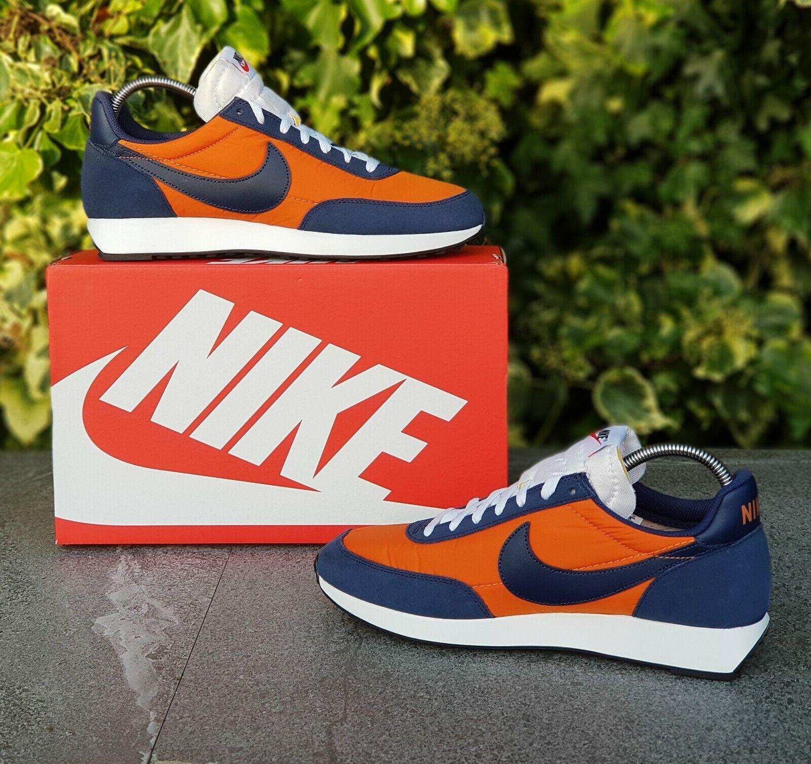 BNWB & Genuine Nike ® Air Tailwind 79 Retro Orange & Blau Trainers UK Größe 8