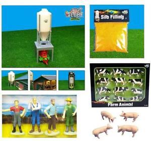 Kids-Globe-Toys-Scale-Farm-Toy-Packs-1-32-Farmyard-Model-Animals-Bales-etc