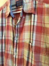 Pendleton Men's Flannel Plaid Short Sleeve Shirt Button Up Checkered Size LARGE