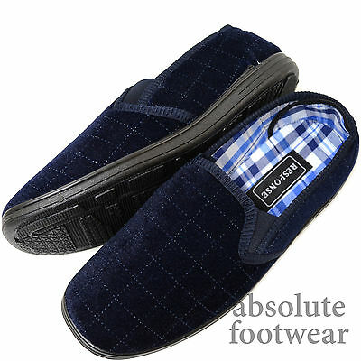 Para Hombre Zapatillas de terciopelo suave/zapatos de interior con diseño de doble fuelle y comprobado