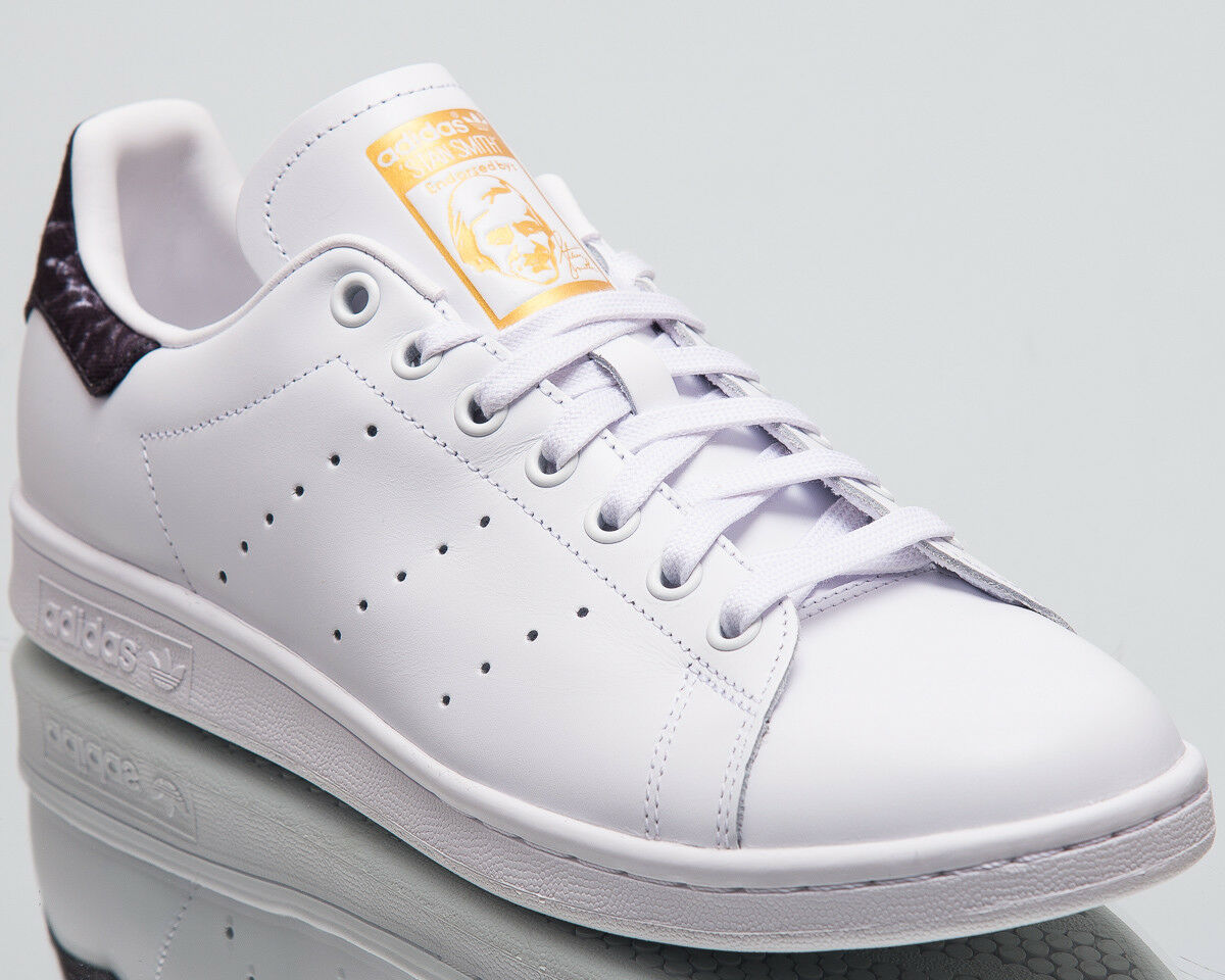 Adidas Originals Stan Smith Men New White Black gold Lifestyle Sneakers AH2456