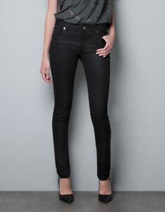 Côté Noir Zara Skinny W28 6 Zip Jeans Eu Us Vintage Nouveau Jeans Uk 10 Pantalon Nwt 38 A8SgSq