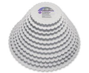 Image is loading Wilton-Round-Separator-Plates-Scalloped-Edge-Easy-Cake-  sc 1 st  eBay & Wilton Round Separator Plates Scalloped Edge Easy Cake Stacking ...