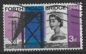 Opening of Forth Road Bridge 3d GB 1964 UK stamp  see scan for details - <span itemprop=availableAtOrFrom>London, London, United Kingdom</span> - Opening of Forth Road Bridge 3d GB 1964 UK stamp  see scan for details - London, London, United Kingdom