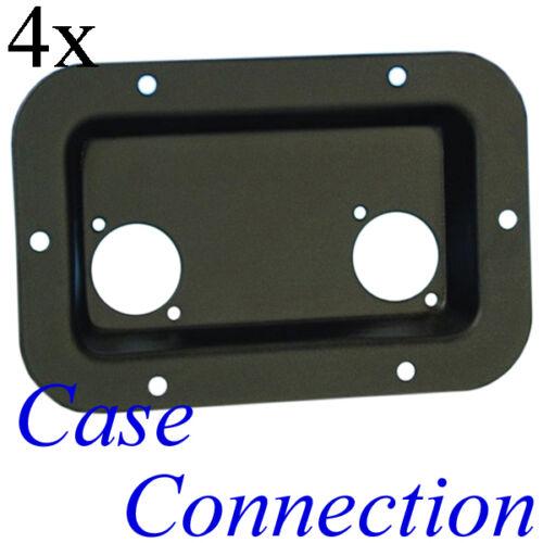 schwarz Einbauplatte Montageplatte D-Typ 4x Einbauschale 136x89mm 2x D-Form