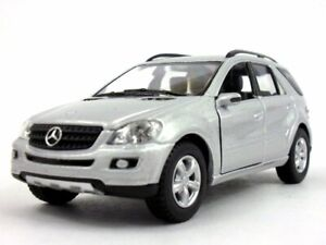 Kinsmart-Mercedes-Benz-ML-350-SUV-class-5-034-diecast-model-1-36-scale-SILVER