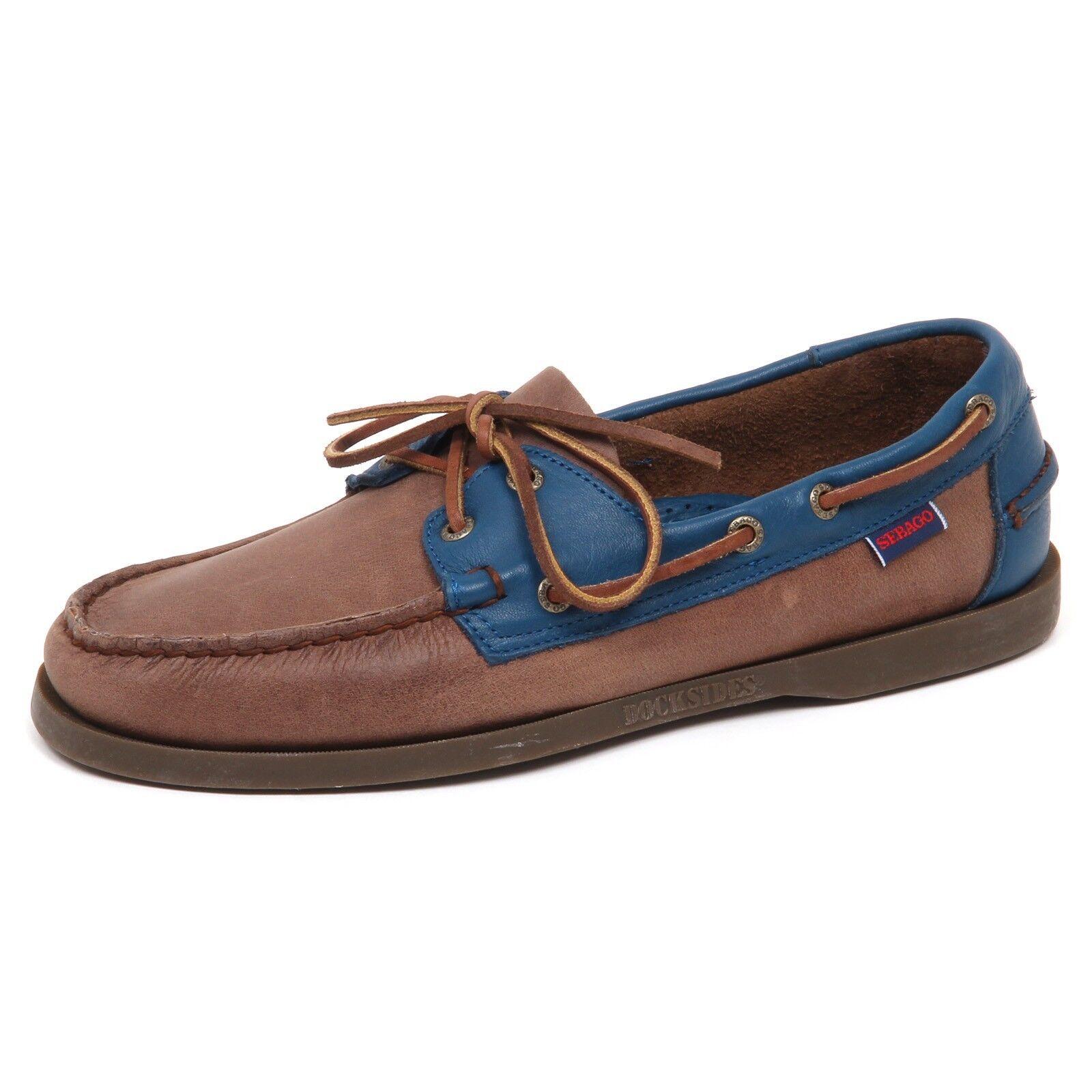 E0824 (SAMPLE WITHOUT BOX) mocassino uomo blu/brown SEBAGO vintage loafer man
