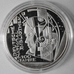 10 Euro Münze 2012 100 Jahre Deutsche Nationalbibliothek Silber