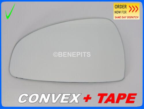Ruban Adhésif Côté GAUCHE #330 Wing mirror glass for Audi TT 2006-2014 Convexe