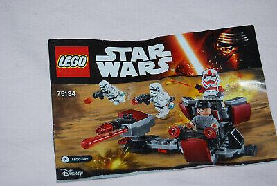 LEGO Star Wars Instruction Manual Lot 75132 75089 75088 75134 75078 75079 New