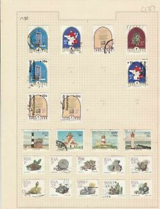 south african 1988 stamps page ref 17900