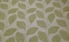 "SUNBRELLA LINDEN LEAF GREEN BEIGE JACQUARD OUTDOOR INDOOR FABRIC BY YARD 56""W"