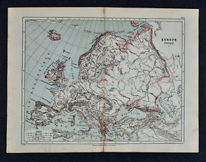 Map Of The Alps In France.1885 Cortambert Map Physical Europe Alps Pyrenees Italy Spain