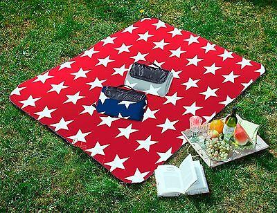 Tolle Picknickdecke STERNE / STARS in 130x170 und XXL 200x200 cm div. Farben NEU