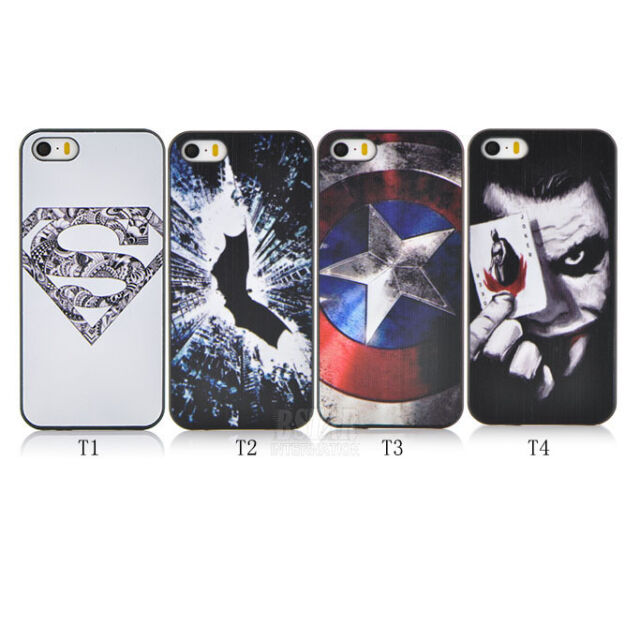 New Ultrathin Super Hero Pattern Hard  Phone Cover Case for iPhone SE 5 5S
