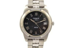 Vintage-Tissot-1853-PR50-Stainless-Steel-Mens-Quartz-Watch-1233