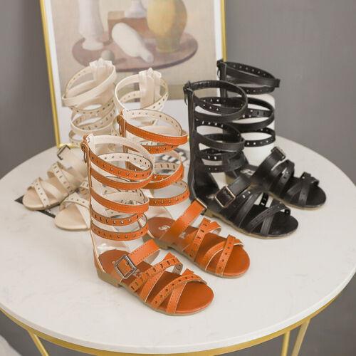 Fashion Girls Roman Sandals Children Summer Gladiator Boots Kids Sandals