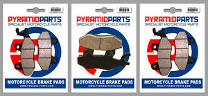 Yamaha XTZ 750 Super Tenere 89-95 Front & Rear Brake Pads Full Set (3 Pairs)